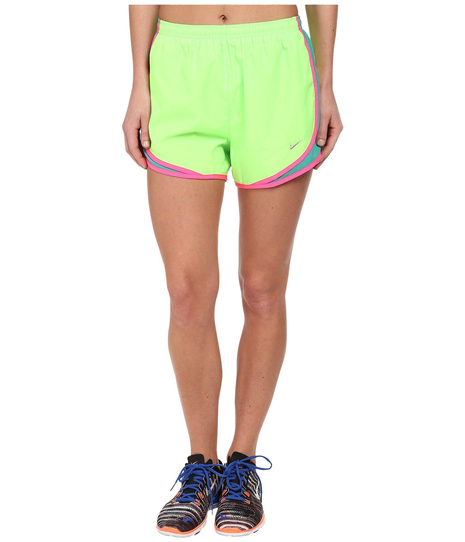 Nike Women's Tempo Short, Flash Lime/Emerald Green/Pink Pow/Matte Silver, SM X 3.5 by Nike
