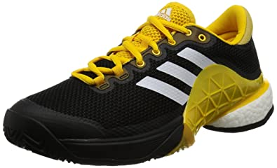 4586f5fb56ff adidas Men s Barricade 2017 Boost Tennis Shoes  Amazon.co.uk  Shoes ...
