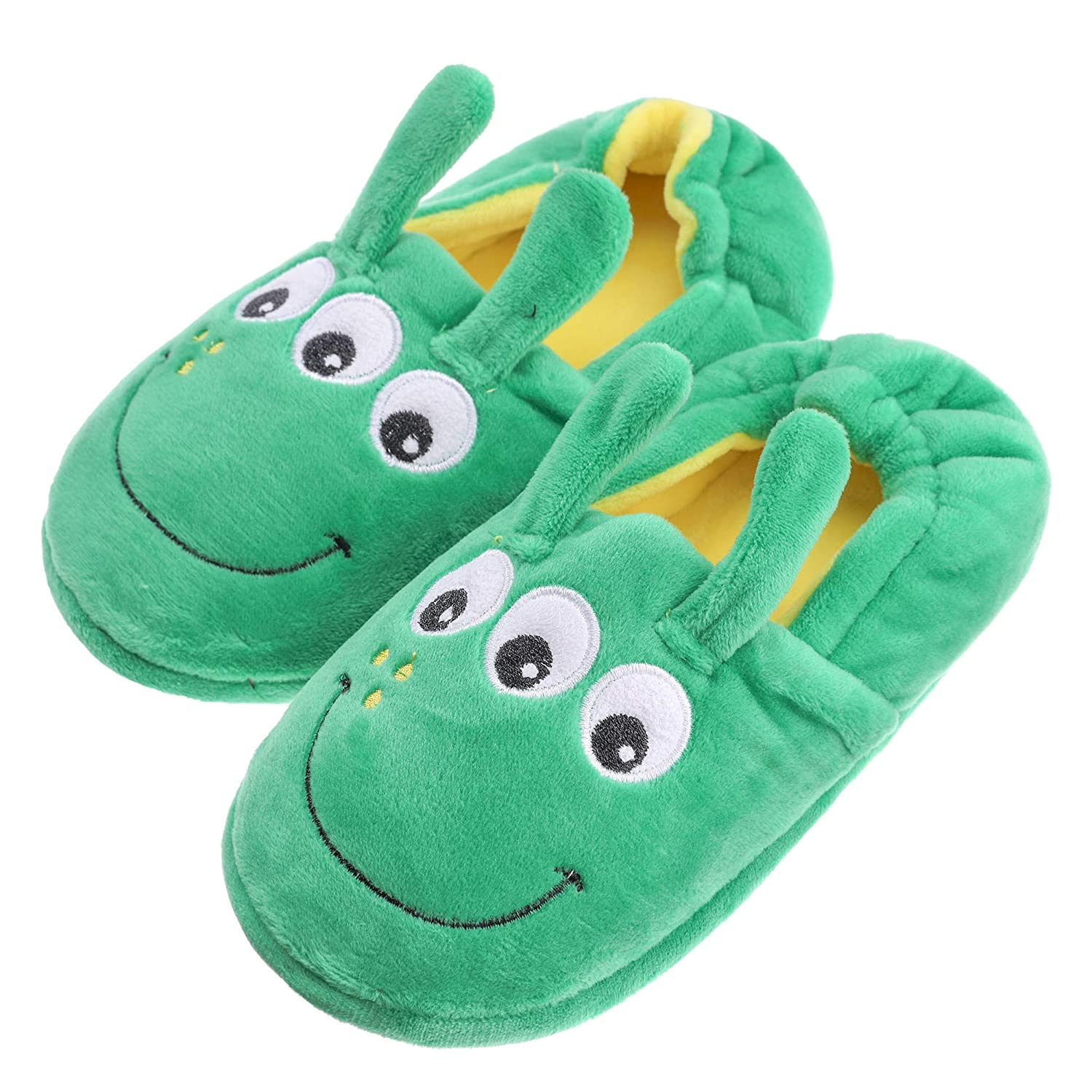 SCOWAY Toddler Baby Boys Girls Cute Cartoon Animal Slippers Soft Warm Plush Anti-Slip Winter Home Shoes