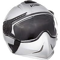Studds Full Face Helmet Downtown (Silver Grey, XL)