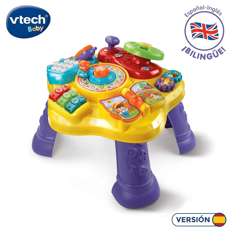 VTech- Mesita Infantil Estrella Bilingüe, Multicolor (3480-181567)