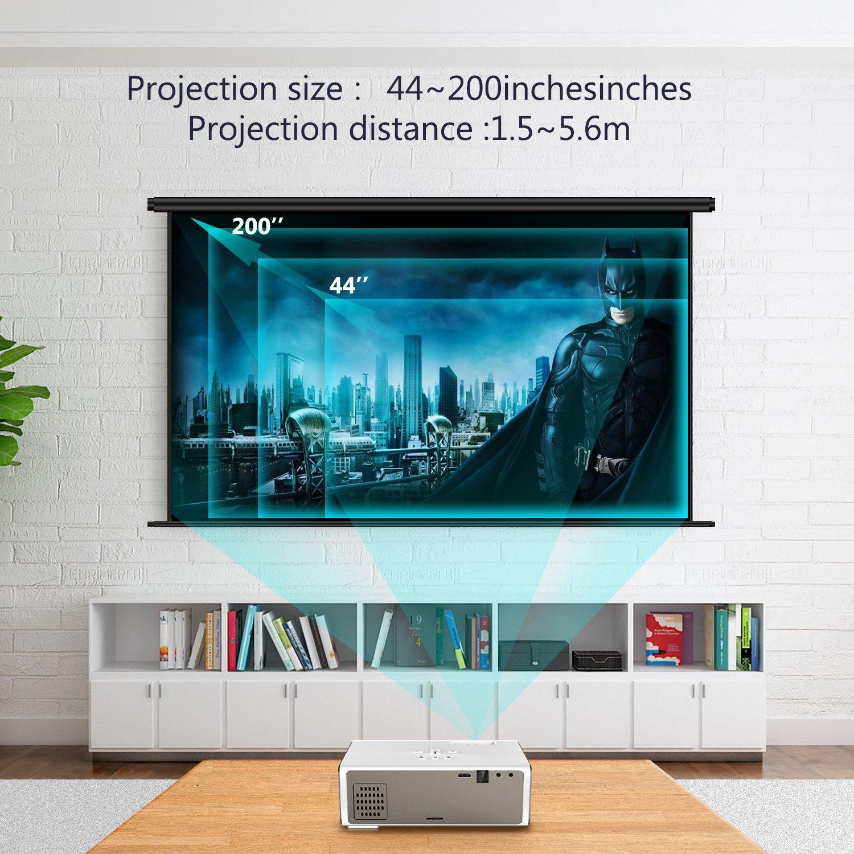 Amazon.com: Projector,Myriann Portable Mini Multimedia Home Video ...