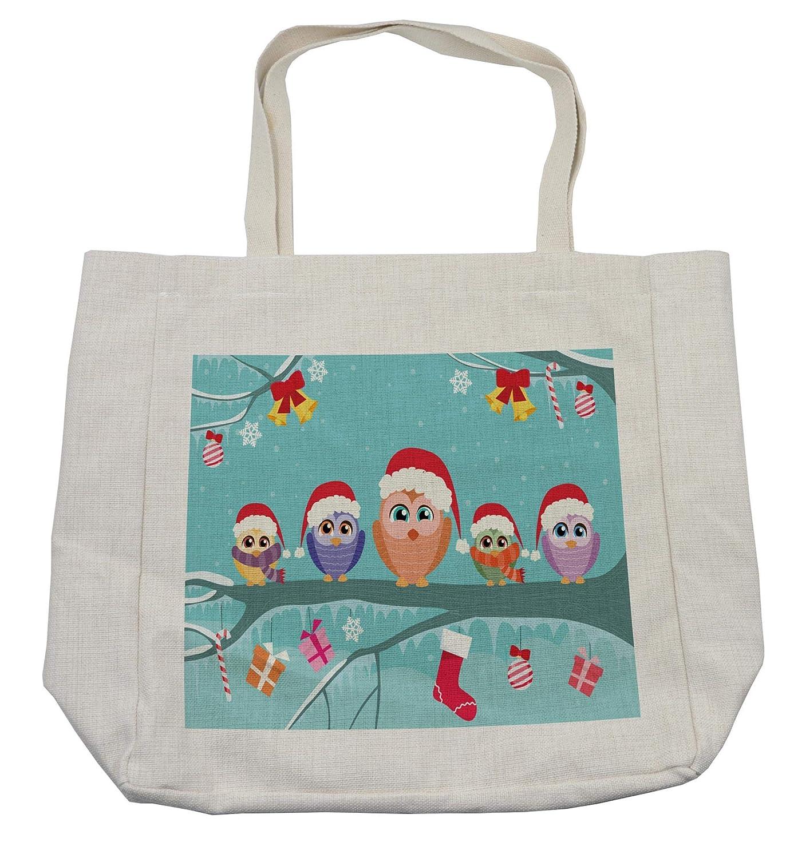 【楽ギフ_のし宛書】 Ambesonne その他に クリスマスショッピングバッグ 14.5