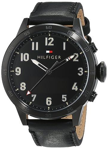 Smartwatch analógico con pantalla digital para hombre Tommy Hilfiger 1791301, mecanismo de cuarzo, correa de piel.: Tommy Hilfiger: Amazon.es: Relojes