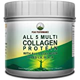 All 5 Multi-Collagen Protein Powder Peptides by Peak Performance. Multi-Collagen Contains All Types I, II, III,V, X…