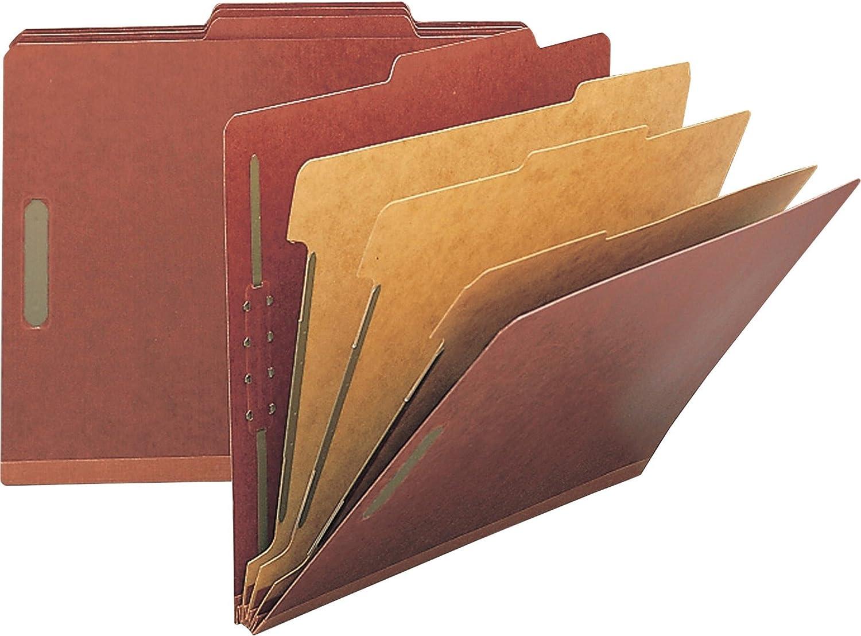 Nature Saver Tyvek Gusset Classification Folder, Red (NAT01055)
