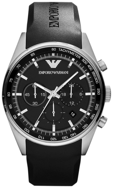 Amazon.com: Armani Sportivo Chronograph Rubber - Black Mens watch #AR5977: Emporio Armani: Watches