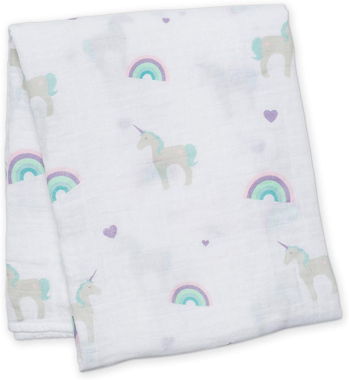Lulujo Baby l2-lj405/Couverture en Mousseline de Coton 120/x 120/cm licornes