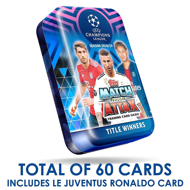 LIMITED RONALDO 2018-19 TOPPS MATCH ATTAX CHAMPIONS LEAGUE MEGA TIN 60 CARD