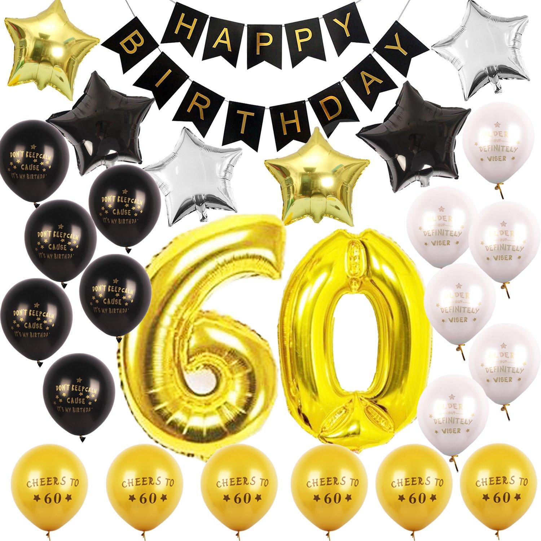 Amazon 60th BIRTHDAY PARTY DECORATIONS KIT