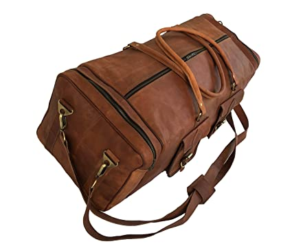 1491856a3886 Image Unavailable. Image not available for. Color  kk s 30 quot  Inch Real  Goat Leather Duffel Bags Luggage Carry On ...