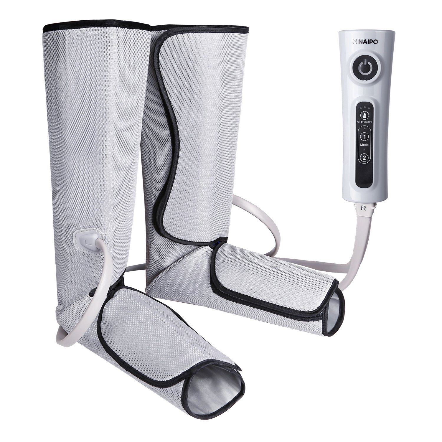 Naipo Leg Air Massager for Circulation Massage Foot and Calf Electric Sequential Compression Wraps with 3 Intensities 2 Modes