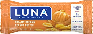 product image for Clif Bar LUNA BAR, Gluten Free, Creamy Dreamy Peanut Butter, 1.69 Ounce Snack Bars (15 Count)