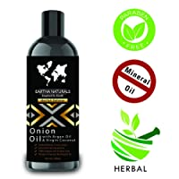 Eartha Naturals Onion Hair Oil for Hair Regrowth, Boost growth, Anti Hair Fall Control & Removes Dandruff and Scalp Infections, Nourish and Shine, Cruelty & Paraben Free - 200 ML
