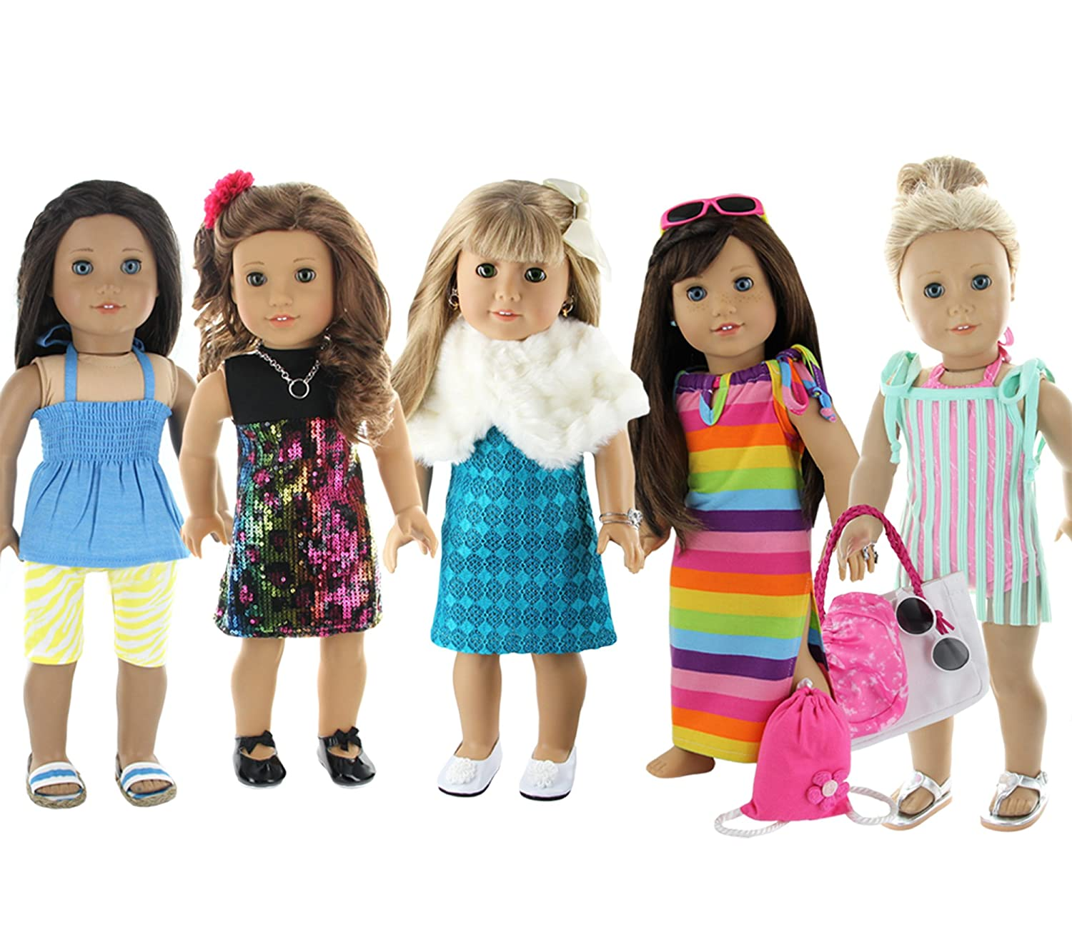 Amazon Doll Club of America 28 Piece Holiday Lot Fits 18 Inch