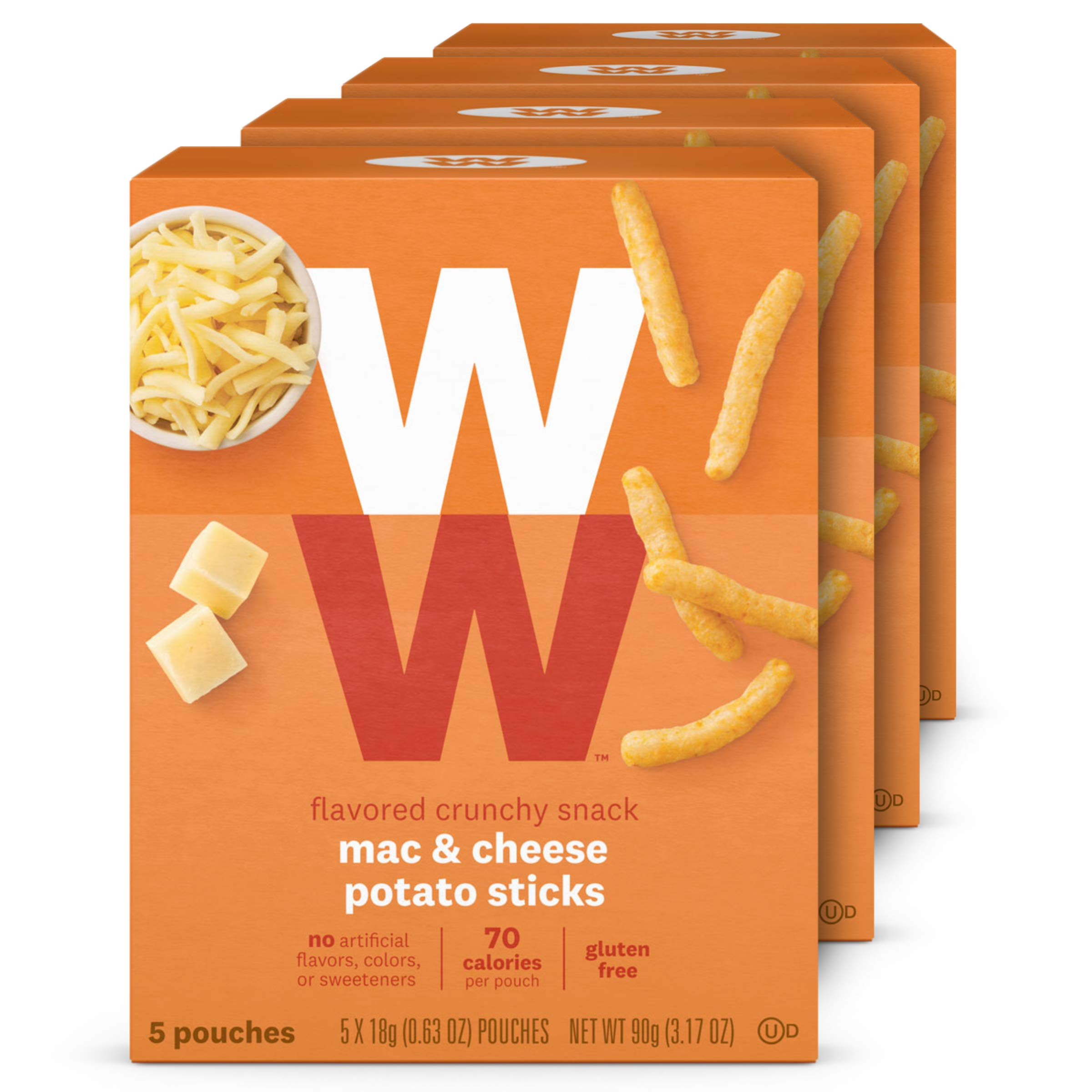WW Mac & Cheese Potato Sticks - Gluten-free, 2 SmartPoints - 4 Boxes (20 Count Total) - Weight Watchers Reimagined by WW