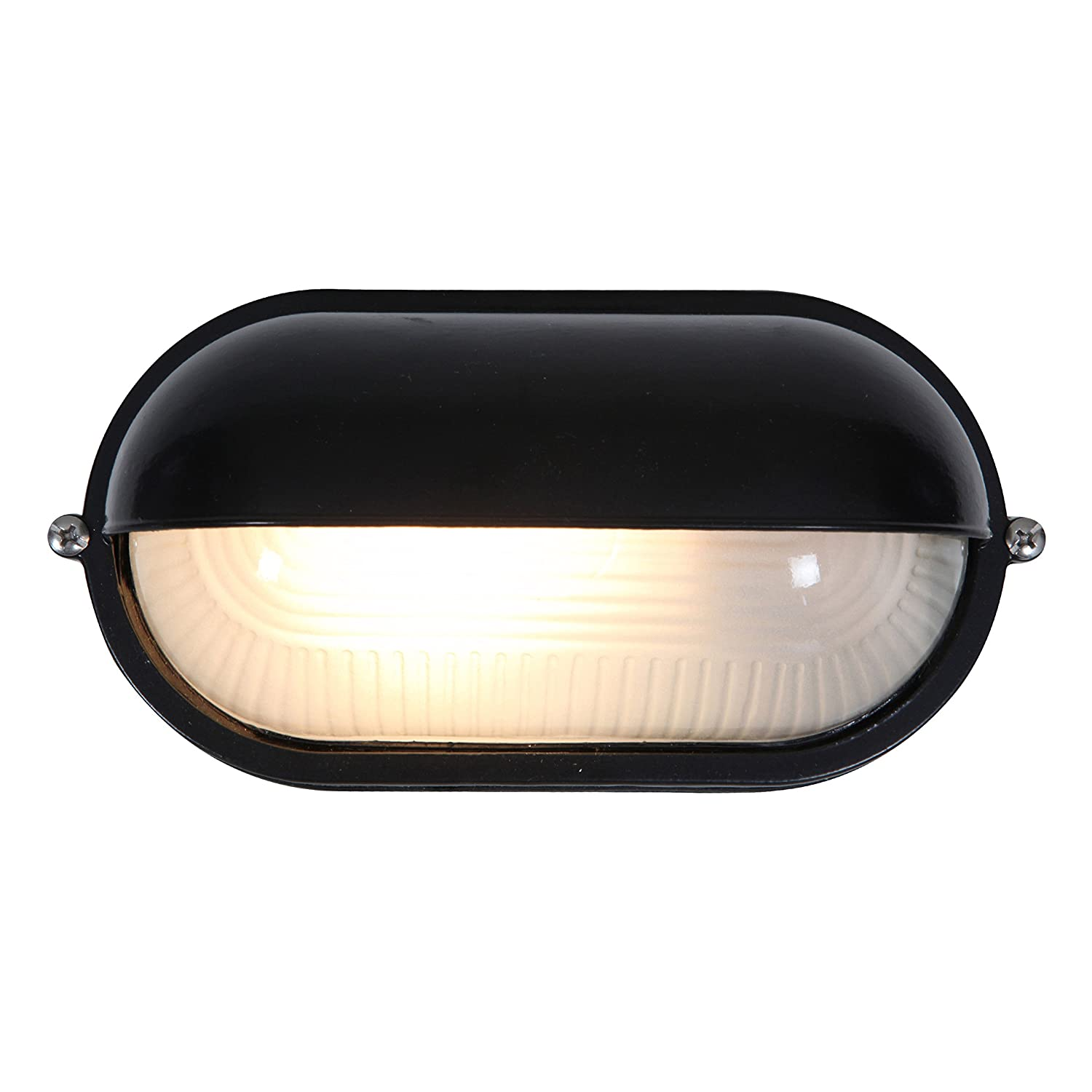 Nauticus outdoor bulkhead black finish with frosted glass shade nauticus outdoor bulkhead black finish with frosted glass shade wall porch lights amazon aloadofball Image collections
