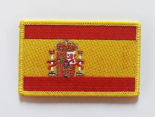Bandera de España. Parche termo adhesivo para prendas.: Amazon.es: Hogar