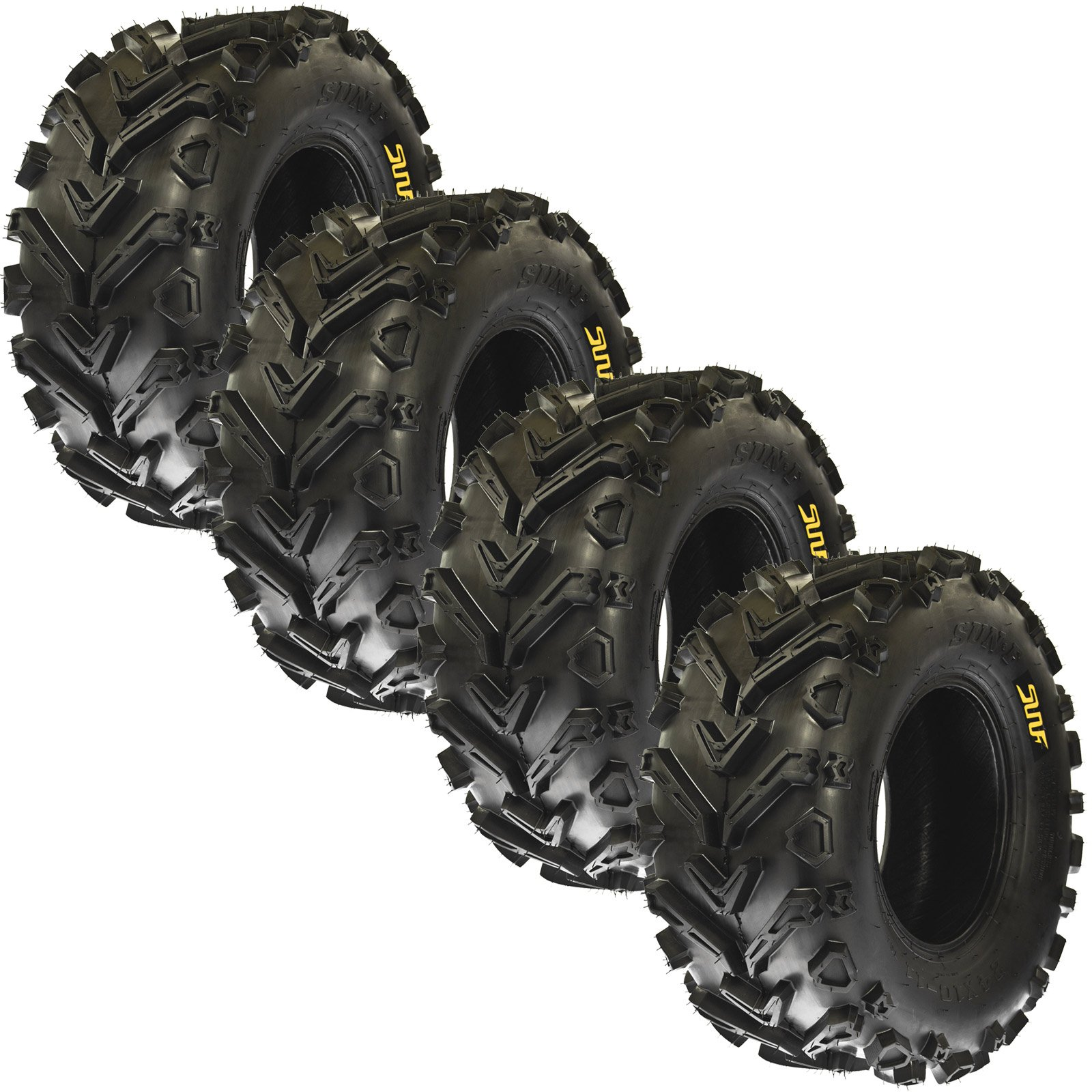 Set of 4 SunF A041 ATV/UTV Tires 24x8-12 & 24x10-11, 6 Ply