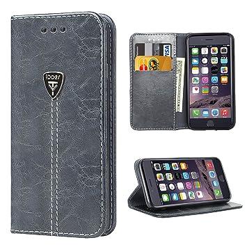iDoer iPhone 6S Funda con tapa libro piel y TPU cartera ...