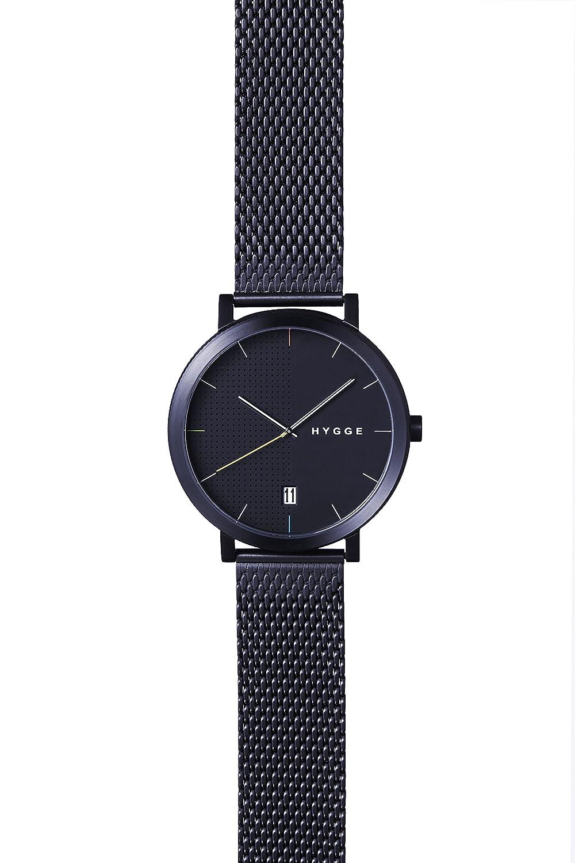 Hygge Unisex-Armbanduhr 2203 Analog Edelstahl Schwarz MSM2203BC(BK)
