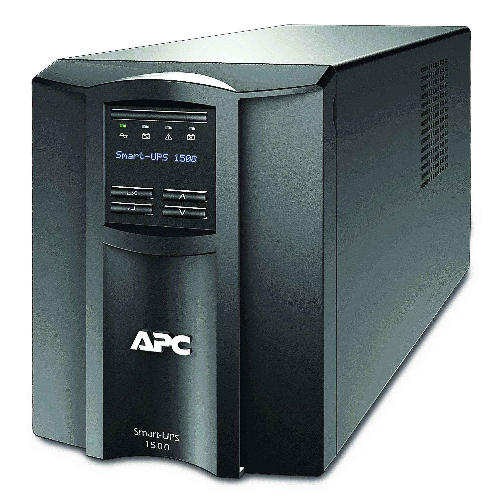 APC 1500VA Smart-UPS with SmartConnect, Pure Sinewave UPS Battery Backup, Line Interactive, 120V Uninterruptible Power Supply (SMT1500C) by APC