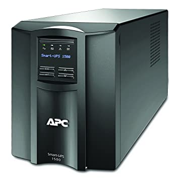 APC Smart-UPS SMT - SMT1500I - Uninterruptible Power Supply 1500VA (Line  Interactive, AVR, LCD Panel, 8 Outlets IEC-C13, Shutdown Software)