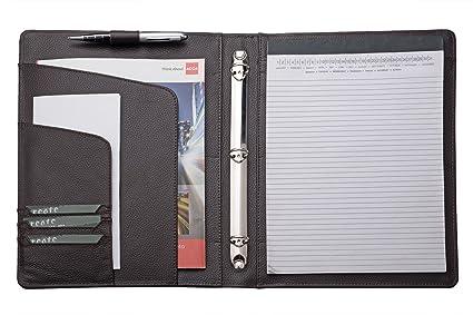 3 ring binder portfolio organizer business padfolio with 2 inches 3