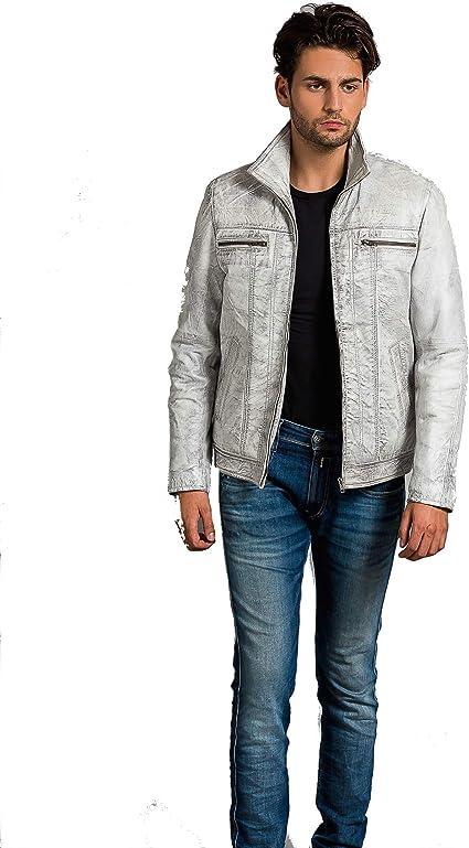 Urban Leather Calvin – para hombre Chaqueta de piel: Amazon.es ...