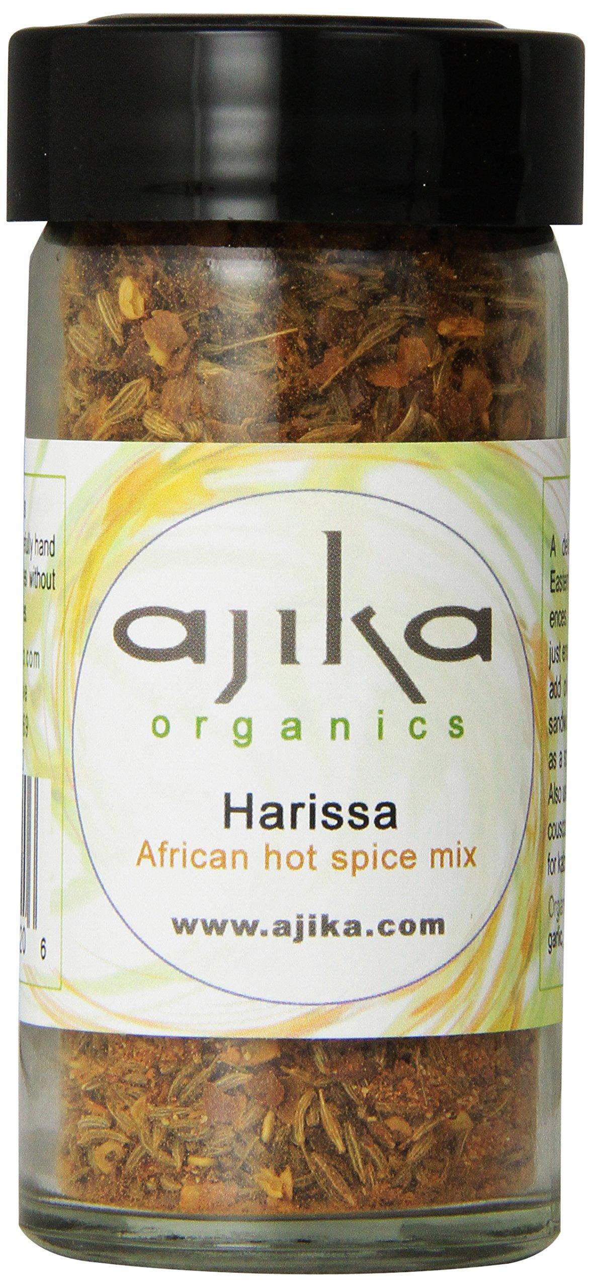 Ajika Organic Harissa Spice Blend - Hot Chili Seasoning From Africa, 2.0-Ounce