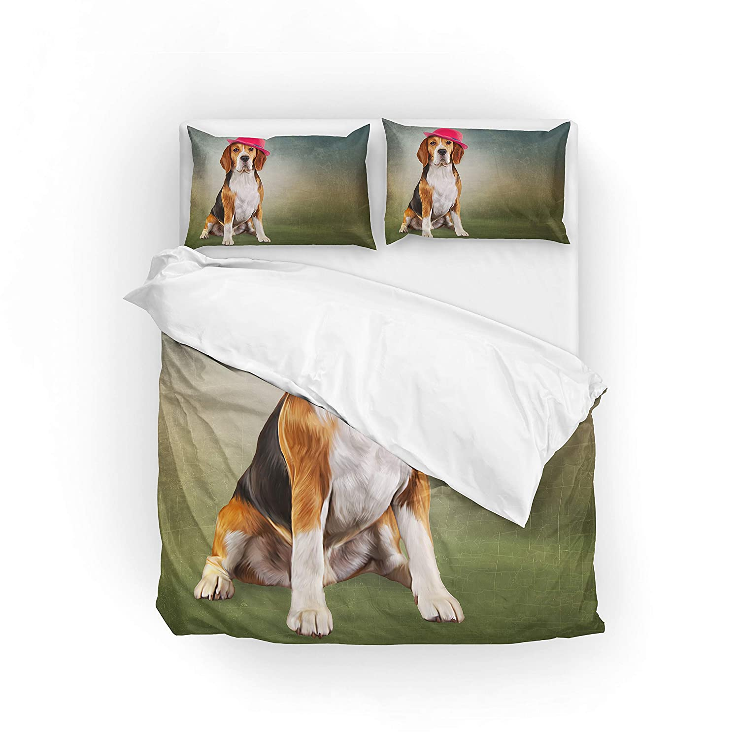 My Daily Funny Beagle Dog Duvet Cover Set Polyester Quilt Bedding Set Twin/Single