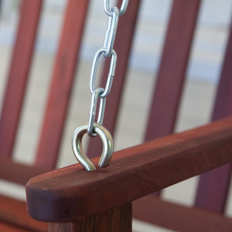 MaximaVida Swing bench 120 cm exclusive mahogany wood
