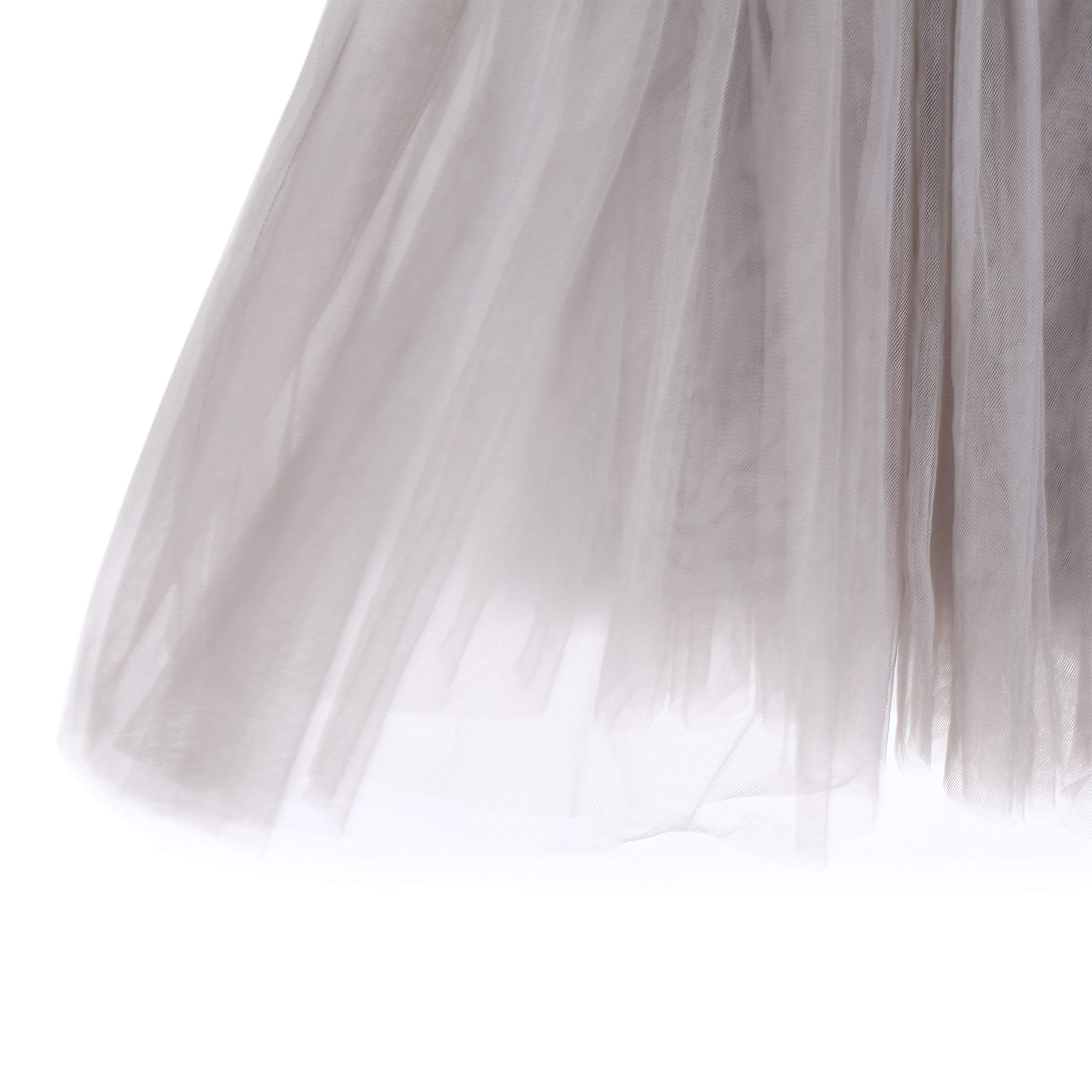 Flofallzique Tulle Tutu Girls Skirts for 1-12 Years Old Dancing Party Toddler Clothes(6, Gray) by Flofallzique (Image #6)