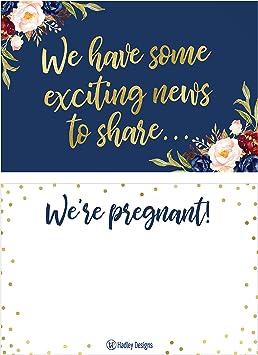 Pregnancy announcement card grandma good news announcement birth