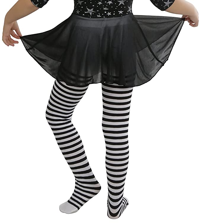 518718f10 Amazon.com  ToBeInStyle Girl s Girls Striped Tights  Clothing