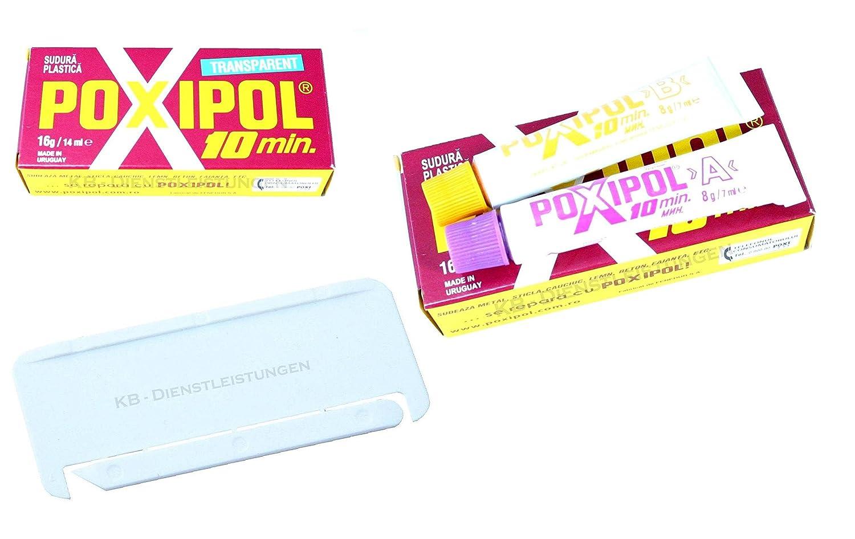 Adesivo bicomponente Poxipol 10min resina epossidica trasparente 14062200