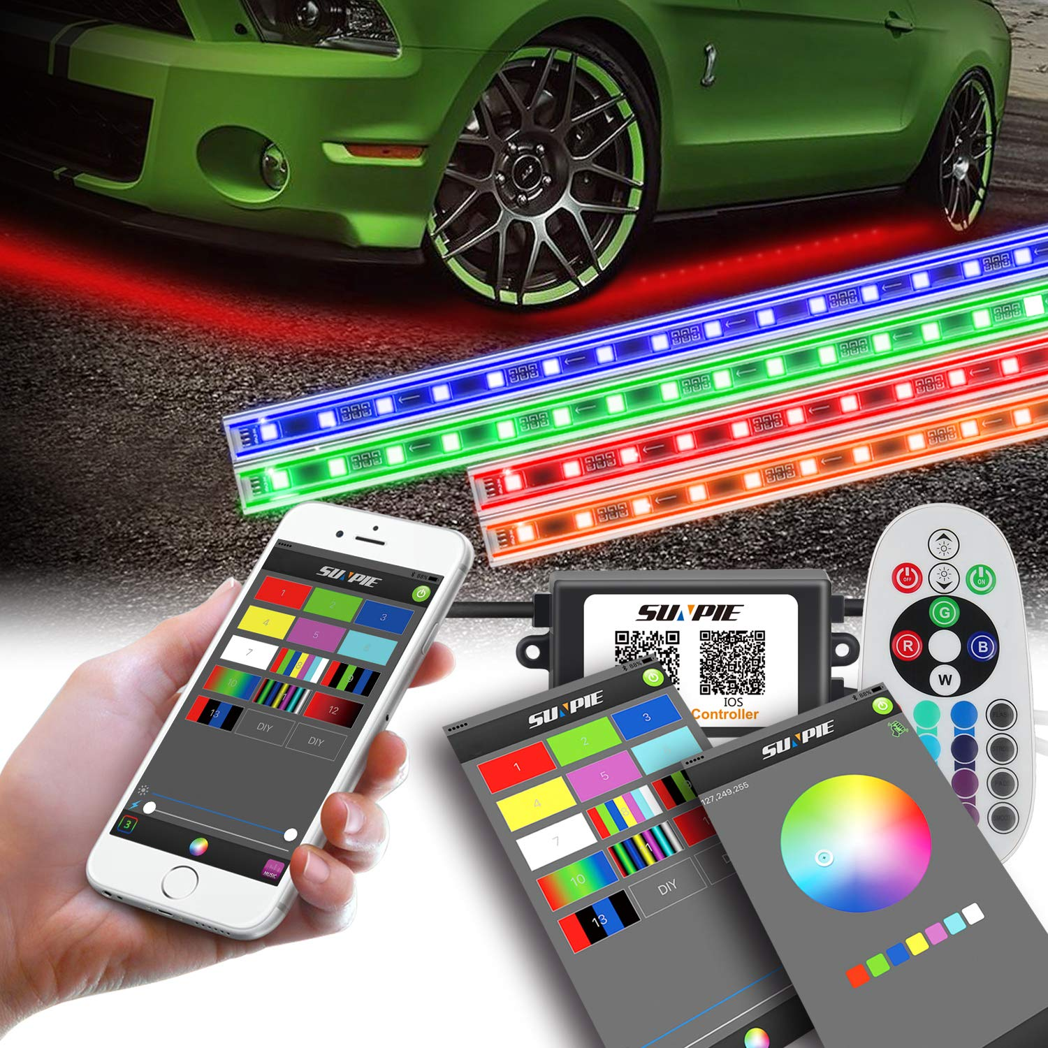 10 Ft Underbody Neon Lights Extension Wire Kit for Car Under Glow LED Strip