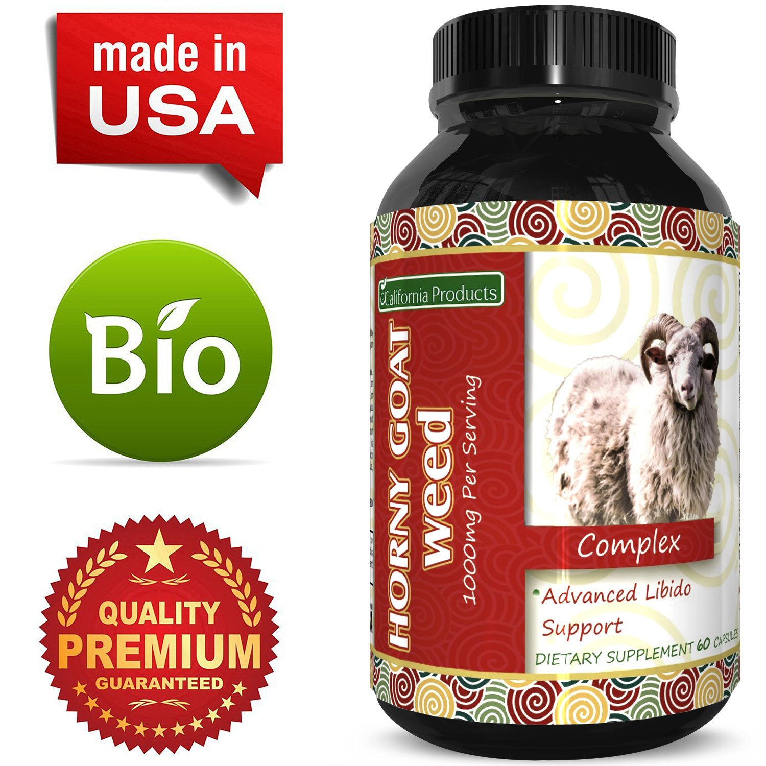 Horny Goat Weed Extract – Libido Supplement for Men & Women – Boosts Sex Drive & Increases Desire Naturally – Extra Strength Herbal Formula – With Maca Root & Tongkat Ali – By California Products by California Products (Image #5)