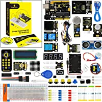 KEYESTUDIO UNO R3 Project Complete Super Starter Kit w/Tutorial,UNO R3 Board,Stepper Motor STEM Education for Arduino
