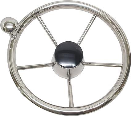 "High Quality Boat S.S Steering Wheel 3 Spoke 13-1//2/"" Dia SeaStar and Verado"