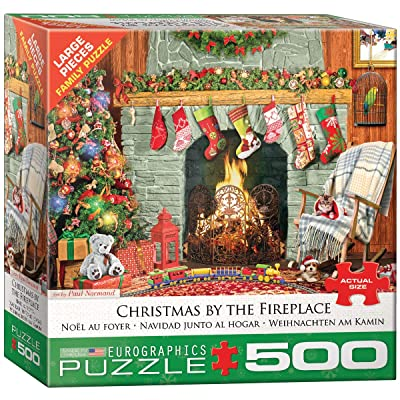 EuroGraphics Christmas by The Fireplace 500-Piece Puzzle: Toys & Games