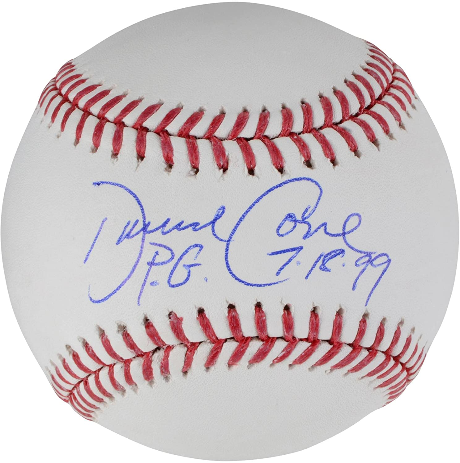 David Cone New York Yankees Autographed Baseball with P.G. 7-18-99 Inscription - Fanatics Authentic Certified