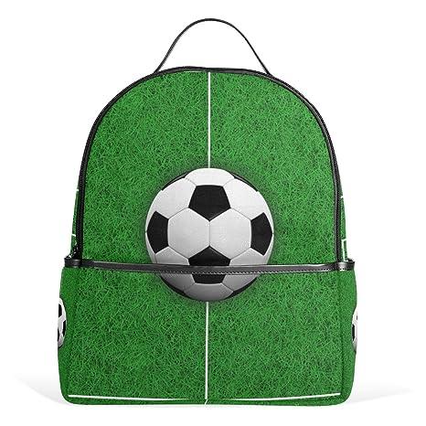 COOSUN El Campo de fútbol 3D Escuela Mochila Ligera Bolsa de Mano Libro para  niños Chicos 8647074eee47f