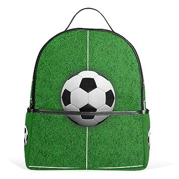 COOSUN El Campo de fútbol 3D Escuela Mochila Ligera Bolsa de Mano Libro para niños Chicos Chicas: Amazon.es: Equipaje