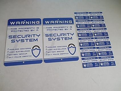 Amazon.com: 2 Home sistema de alarma de seguridad Yard Signs ...
