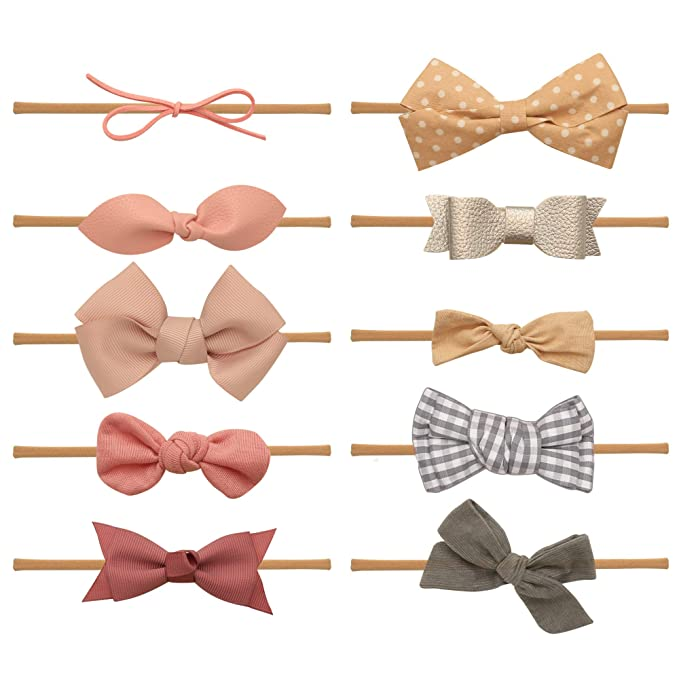 Amazon.com: Diademas y lazos para bebé – Diadema de nailon ...