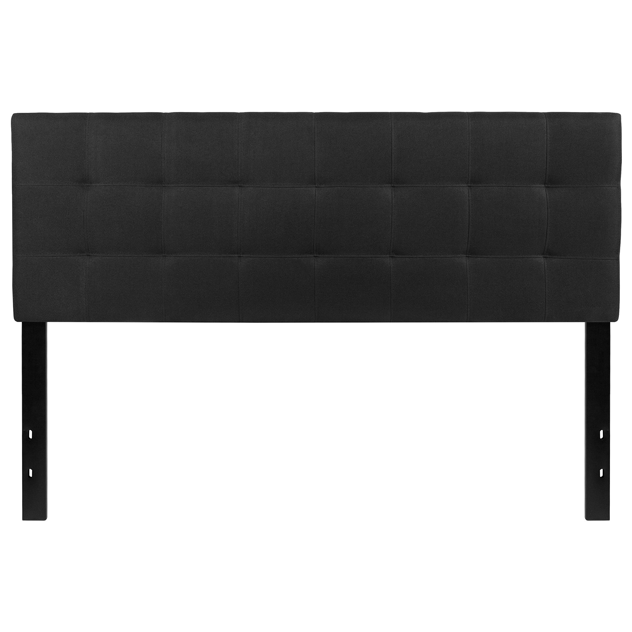 Flash Furniture Bedford Tufted Upholstered Queen Size Headboard in Black Fabric