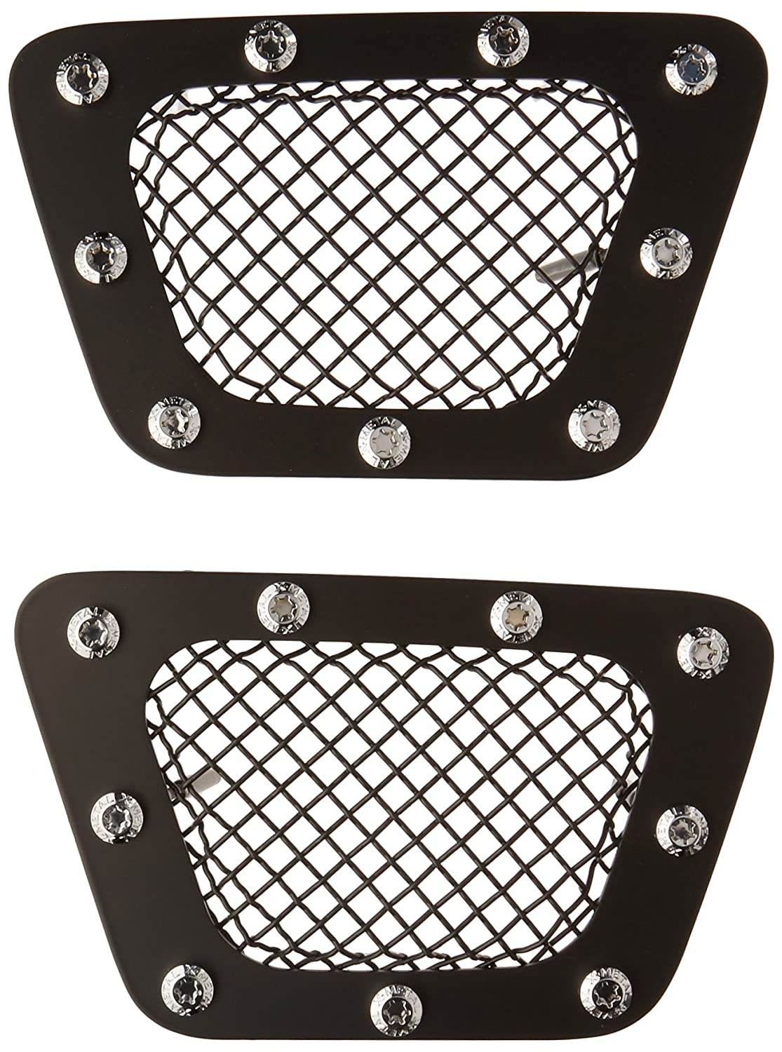 TRex Grilles 6720511 Small Mesh Steel Black Finish XMetal Bumper Grille Overlay for Chevrolet Avalanche T REX