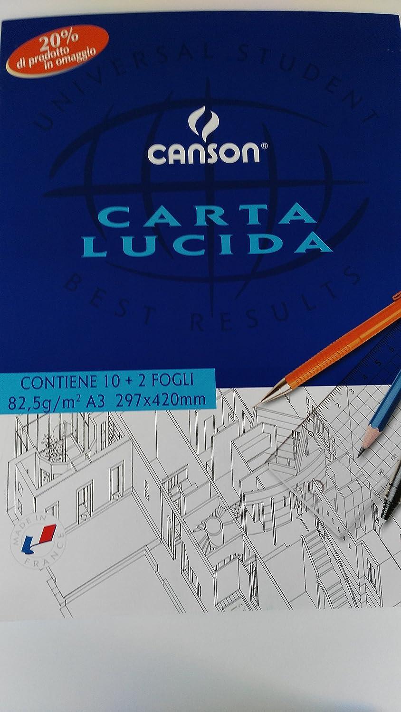 BLOCCO CARTA LUCIDO A3 FG.10 RIMBOCCO CANSON