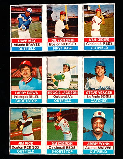 1976 Hostess Baseball Cards 50 Uncut 1 150 Cards Nm Signed